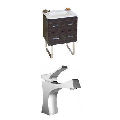 Kyra 24 Multi-Layer Stain Rectangle Single Bathroom Vanity Set