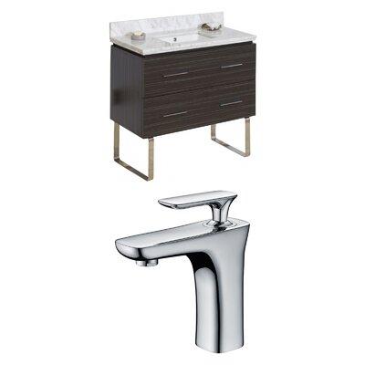 Kyra Modern 36 Rectangle Single Bathroom Vanity Set Sink Finish: Biscuit