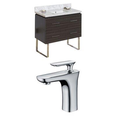 Kyra Modern 36 Rectangle Single Bathroom Vanity Set Sink Finish: White