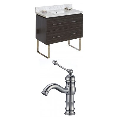 Kyra 36 Single Bathroom Vanity Set with 2 Drawers Sink Finish: Biscuit