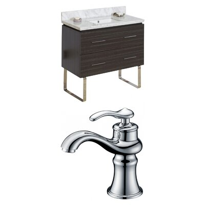 Kyra Modern 36 Wood Single Bathroom Vanity Set Sink Finish: White