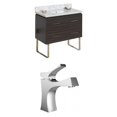 Xena 36 Single Bathroom Vanity Set Sink Finish: White