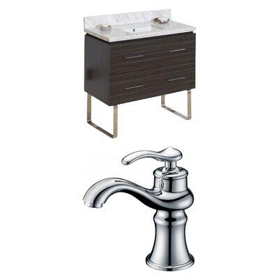 Kyra Modern 36 Wood Single Bathroom Vanity Set Sink Finish: Biscuit