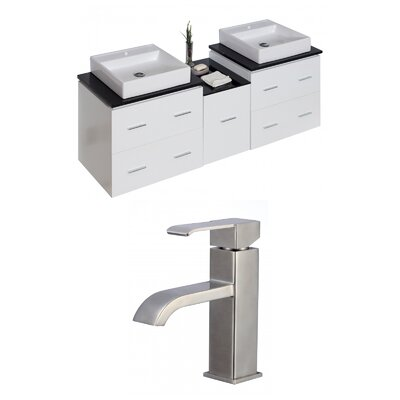 Maryalice Wall Mount 61.5 Double Bathroom Modern Plywood Vanity Set