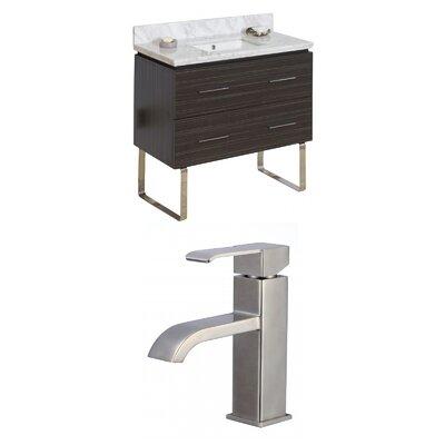 Xena 36 Single Bathroom Vanity Set Sink Finish: White