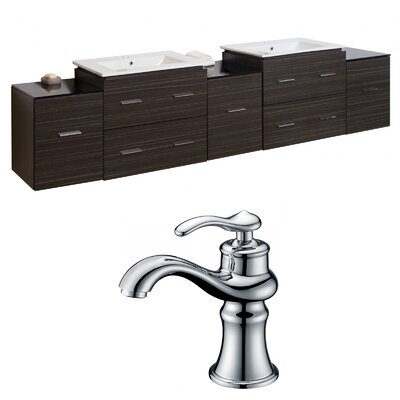 Kyra 90 Rectangular Double Bathroom Vanity Set