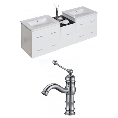 Xena 62 Double Bathroom Vanity Set