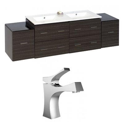 Kyra 76 Solid Wood Double Bathroom Vanity Set