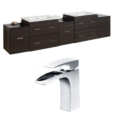 Xena 90 Double Bathroom Vanity Set
