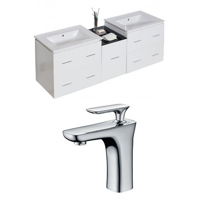 Kyra 62 Solid Wood Double Bathroom Vanity Set