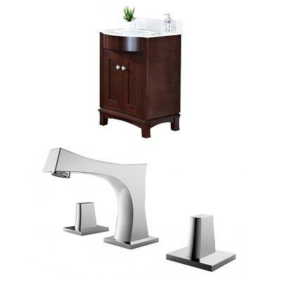 Kester Transitional 24 Multi-layer Stain Single Bathroom Vanity Set Sink Finish: White