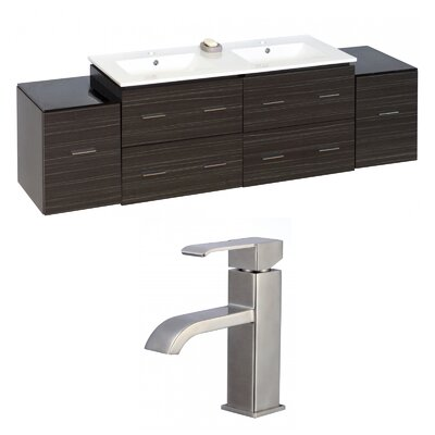 Kyra 76 Double Bathroom Vanity Set with 6 Drawer