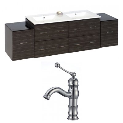 Xena 76 Double Bathroom Vanity Set
