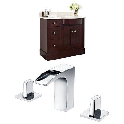 Kester 36 Single Bathroom Vanity Set with Stone Top Sink Finish: Biscuit