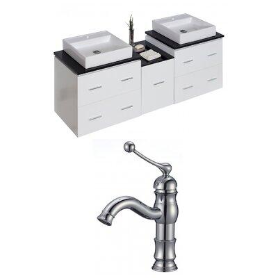 Maryalice Wall Mount 62 Double Bathroom Vanity Set