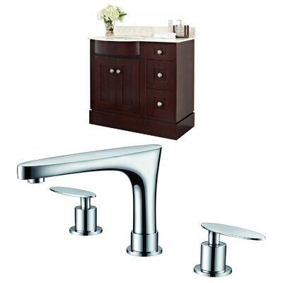 Kester Transitional 36 Multi-layer Stain Single Bathroom Vanity Set Sink Finish: White