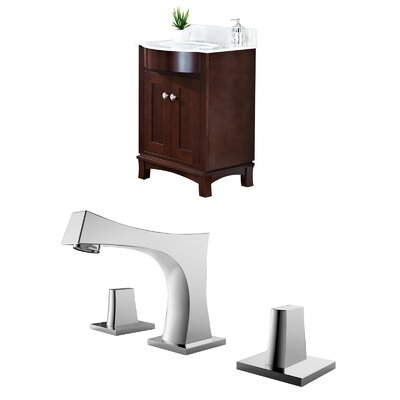 Kester Transitional 24 Multi-layer Stain Single Bathroom Vanity Set Sink Finish: Biscuit