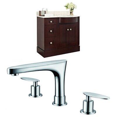 Kester Transitional 36 Single Bathroom Vanity Set Sink Finish: White