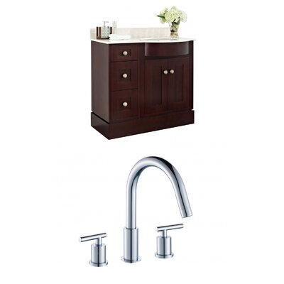 Kester Transitional 36 Wood Single Bathroom Vanity Set Sink Finish: Biscuit