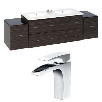 Kyra 76 Wood Double Bathroom Vanity Set