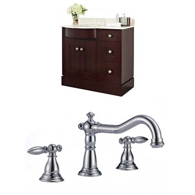 Kester 36 Multi-layer Stain Single Bathroom Vanity Set Sink Finish: White