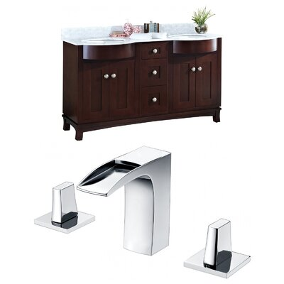 Kimbrough Floor Mount 61.8 Double Bathroom Vanity Set