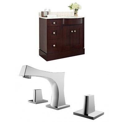 Kester 36 Wood Single Bathroom Vanity Set Sink Finish: White