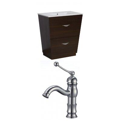 Kao Floor Mount 30 Single Bathroom Vanity Set Faucet Mount: Single Hole