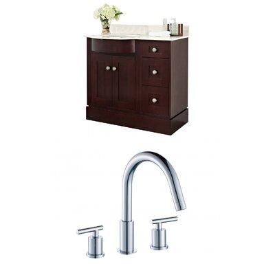Kester 36 Rectangle Single Bathroom Vanity Set Sink Finish: Biscuit