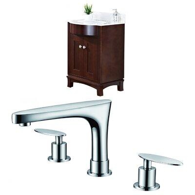 Tiffany 24 Single Bathroom Vanity Set Sink Finish: Biscuit
