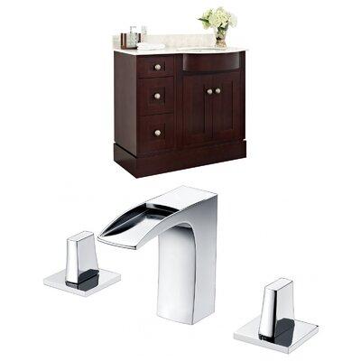 Kester 36 Single Bathroom Vanity Set with Stone Top Sink Finish: White