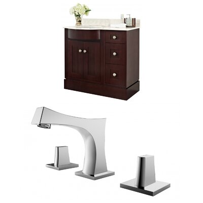 Kester 36 Single Bathroom Vanity Set Sink Finish: White