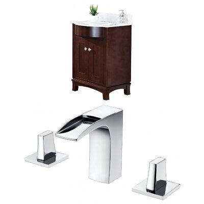 Tiffany 24 Single Bathroom Vanity Set Sink Finish: White