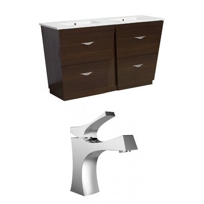 Kao Modern Floor Mount 59 Single Bathroom Vanity Set