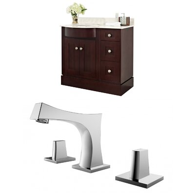 Kester 36 Single Bathroom Vanity Set Sink Finish: Biscuit