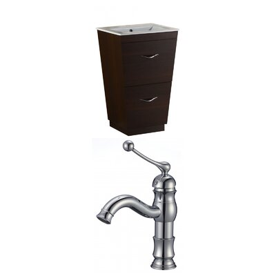 Kao Modern Floor Mount 21 Single Bathroom Vanity Set Faucet Mount: Single Hole