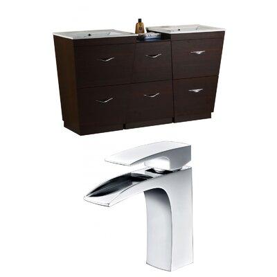 Vee 67.5 Double Bathroom Vanity Set