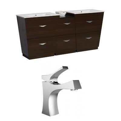 Vee 75.5 Double Bathroom Vanity Set