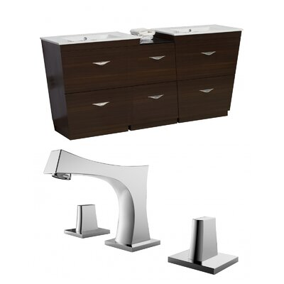 Vee 62 Double Bathroom Vanity Set
