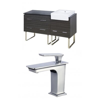Mulberry Floor Mount 61 Single Bathroom Vanity Set