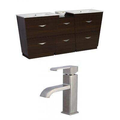 Vee 75.5 Double Bathroom Vanity Set
