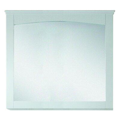 Modern Wood Mirror Finish: White, Size: 31.5