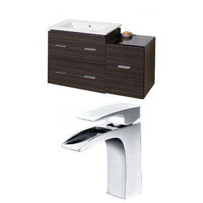 Kyra Modern 38 Natural Wood Single Bathroom Vanity Set
