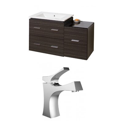 Kyra Modern 38 Multi-Layer Stain Single Bathroom Vanity Set
