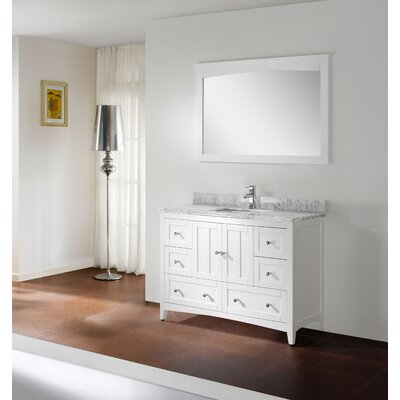 48 Modern Vanity Base Base Finish: White