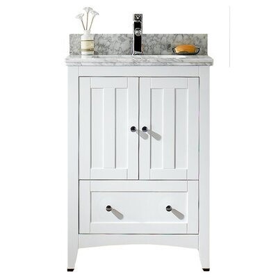 24 Modern Vanity Base Base Finish: White