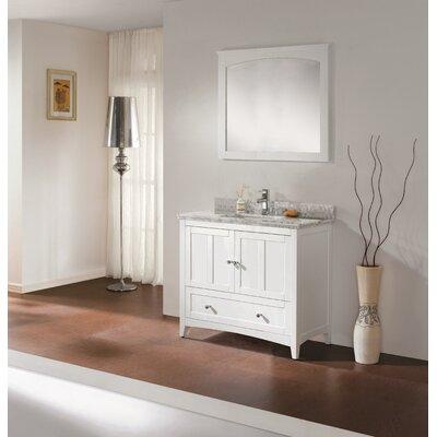 36 Modern Vanity Base Base Finish: White