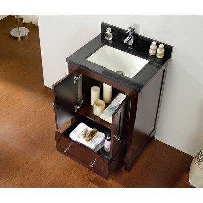 23.5 Single Bathroom Vanity Set Top Finish: Black Galaxy, Faucet Mount: Single