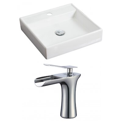 18 Wall Mount Bathroom Sink with Overflow