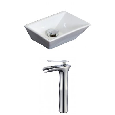 Emily Rectangular Vessel Bathroom Sink with Overflow